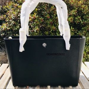 new Emerson Buckle tote tory burch large Black 001